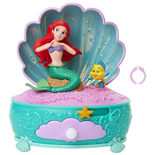 Disney Princess Ariel Pearl Jewelry Box, Disney The Little Mermaid 30 Year Anniversary! Ariel Dances to Part of Your World Includes Pearl Ring for You to Wear!