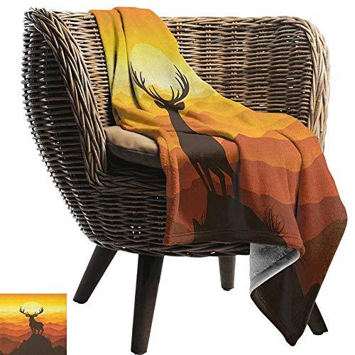 ZSUO puppy deken geweien, herten geweien op houten tafel rustieke textuur oppervlak jacht seizoen herfst verzamelen kunst Umber Gezellige en duurzame Fabric-Machine wasbaar