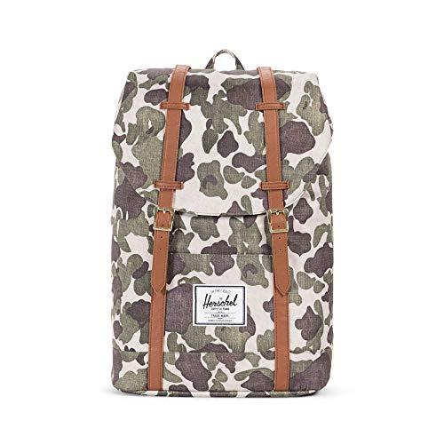 Herschel Unisex-Erwachsene Retreat Multipurpose Backpack, Kunstleder Frosch camo/Hellbraun, Classic