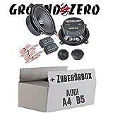 Ground Zero GZIC 13X Kompo - 13cm Lautsprecher System - Einbauset für Audi A4 B5 - JUST SOUND best choice for caraudio