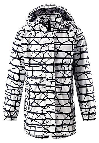 Reima Girls Marine Jacket Weiß, Damen Regenjacke, Größe 116 - Farbe White