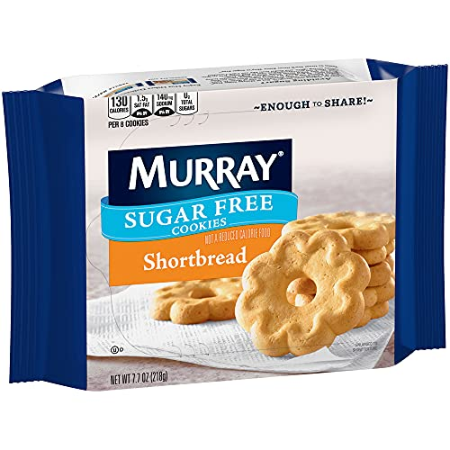 Murray Sugar Free Cookies, Shortbread, 7.7 Ounce Tray, Pack of 12