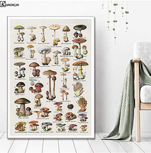 LGXINGLIyidian Poster Und Drucke Magic Mushroom Blacklight Psychedelic Poster Trippy Leinwand Malerei Wandkunst Bild Wohnzimmer Home Decor Y969 40x60Cm