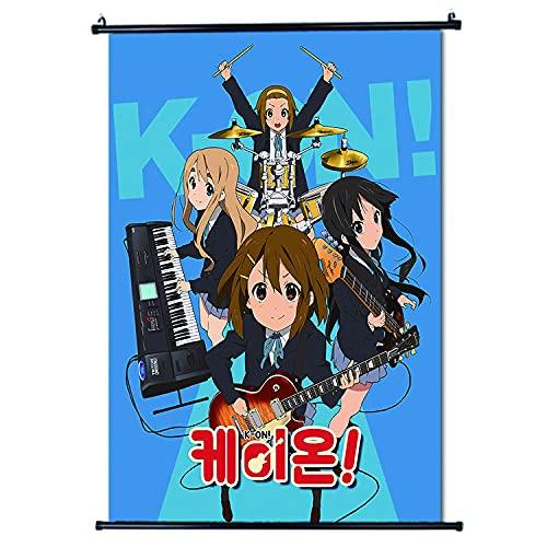 K-on!-Anime - Decoración de pared para póster de desplazamiento de tela, decoración de la casa, perfecta para la habitación, 30 x 45 cm (12 x 18 pulgadas)