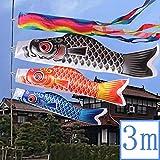鯉のぼり こいのぼり 3mセット庭園 鯉幟 子供の日 端午の節句 こどもの日 男の子 五月五日 (3mセット+ロープ:15m)