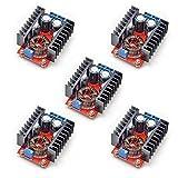 KOOKYE 5個セット 昇圧モジュール 10A 150W 10-32V~12-35V DC-DC ブーストステップアップ 調整可能電源モジュール コンバーター DIY 昇圧レギュレータ モジュール電源トランス 産業機器用