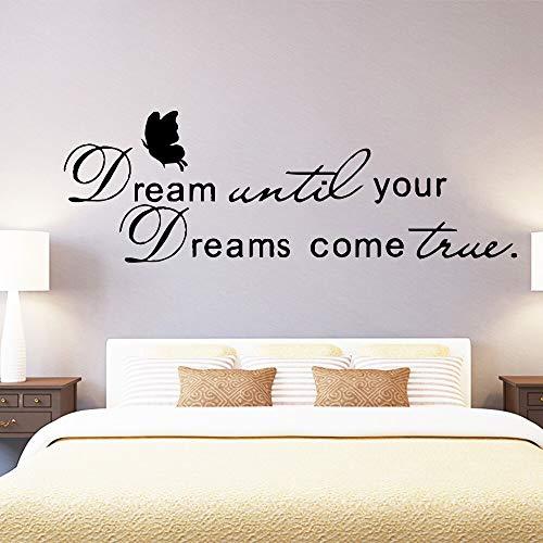 DIY cita sueños hasta que los sueños se hagan realidad accesorios de decoración del hogar sala de estar decoración del dormitorio hogar A4 43x53cm