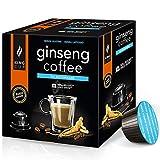 King Cup - 6 Packungen mit 10 Zuckerfreier Ginseng Kapseln, 60 Kapseln 100% Kompatibel mit dem Nescafè Dolce Gusto-System von Ginseng Getränk, Glutenfrei und Laktosefrei