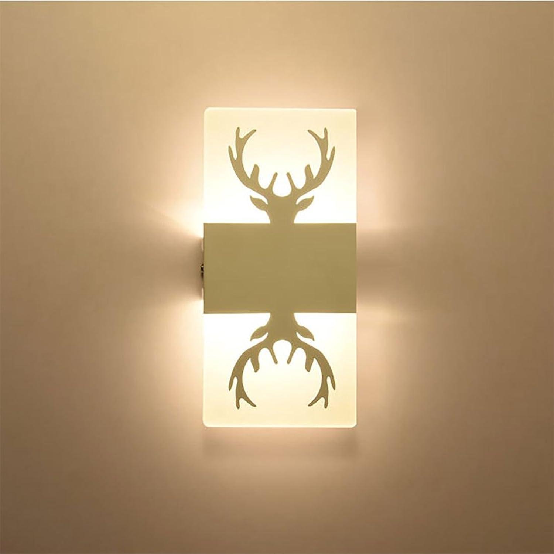 HONGLIModerne Wandleuchte Schlafzimmer Nachttischlampe Treppenlicht Acryl Zimmerwand Leuchte Geweih Wandleuchte LED Wandleuchte 25  12cm
