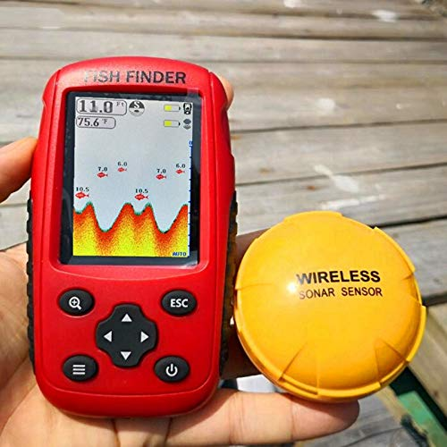 CattleBie Profundidad Inteligente portátil inalámbrico buscador de los Pescados Escuela De Pescados Sonda Sonar ultrasonido sonda de Profundidad (Color : Multi-Colored)