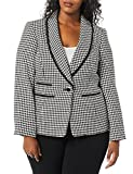 Kasper Women's Plus Size 1 Button Shawl Collar...
