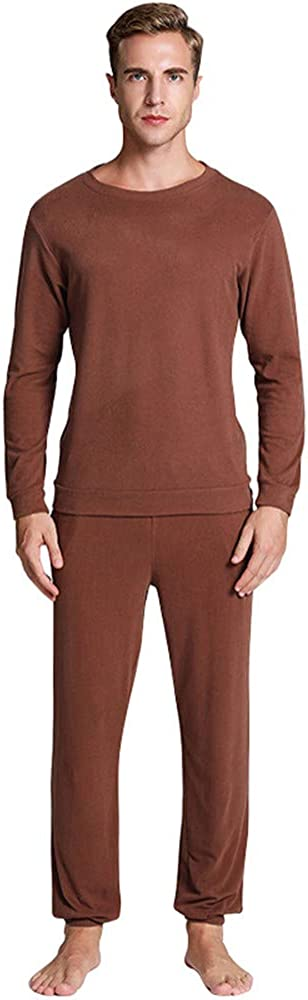 Xalutec Thermal Underwear for Men Ultra Soft Fleece Lined Thermal Winter Base Layers Long Johns Set