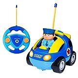 SGILE RC Auto Ferngesteuertes Spielzeugauto für Kleinkinder und Kinder, RC Polizeiauto mit Licht...