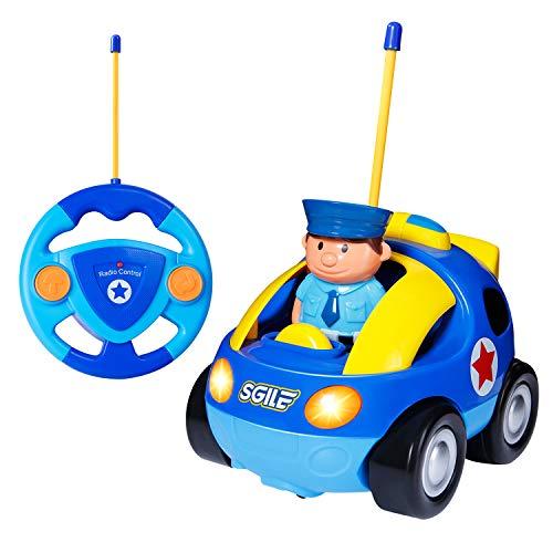 SGILE Auto Telecomandata per Bambini, Giocattolo Macchina Telecomandata con Musica e Luci, Regalo di Natale per i Bambini a 2 3 Anni