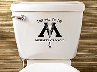 Calcio Amuzocity Adesivo Toilette Coperchio WC Impermeabile Adesivo Adesivo Copriwater Coprivaso Coprivaso