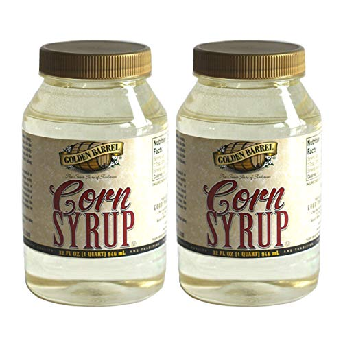Golden Barrel Corn Syrup 32 FL OZ (1 QUART) 946 mL all-natural syrup - thick-textured, clear in color, and 100 percent preservative-free/no high fructose corn syrup (2pack)