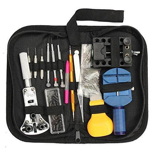 YOBAIH Uhrmacherwerkzeug Set 144pcs Set Uhrmacher Werkzeuge Uhr Bügel-Remover mit Hebebühne Pry Messer Uhr-Reparatur-Werkzeug-Kits (Color : 144pcs)