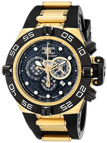 Invicta Men's 6583 Subaqua Noma IV Collection Chronograph Black Polyurethane Watch