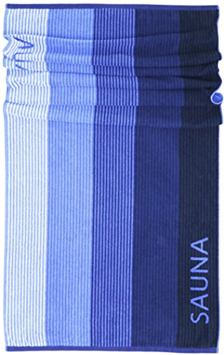 Lashuma Saunatuch Helsinki, Blau - Schwarz, Hochwertiges XXL Handtuch, Badehandtuch Strandtuch 85x200 cm