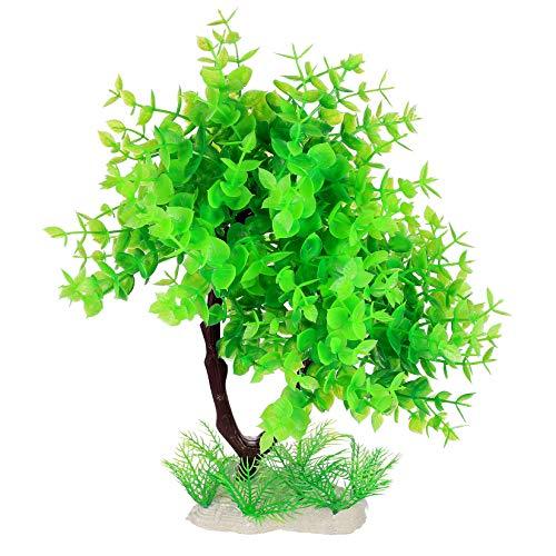 Künstliche Aquarium Pflanzen Deko, Groß Grün Wasserpflanzen, Kunststoff Pflanzen Fisch Tank Aquariumpflanze Deko