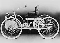 Image: Automobile An 1896 Ford Quadricycle | The First Automobile Built By Henry Ford | Powered By A Two-Cylinder Gasoline Engine | Attaining A Maximum Speed Of 20 Miles Per Hour Poster Print | by Posterazzi