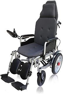 Inicio Accesorios Sillas de Ruedas eléctricas para Personas Mayores Discapacitados en Plano Ligero Compacto Plegable Silla de Ruedas eléctrica Seguro Fácil de Conducir Silla de Ruedas motorizada du