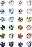 Adramata 12 Pares Pendientes de Botón Magnéticos para Hombres y Mujeres No Perforante Diamante de Imitación...