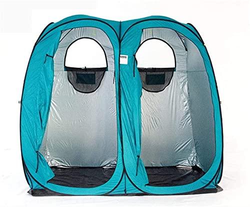 SHWYSHOP Carpas para Acampar Carpa Cambiador Habitación Doble Privacidad Ducha Carpa Exterior Inodoro móvil Sombra de Lluvia Casa Senderismo Pesca FA