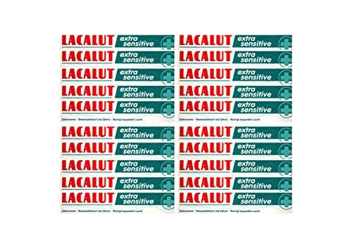 20x LACALUT extra sensitive Zahnpasta 75ml Zahncreme, PZN: 10991693, Made in Germany NEU