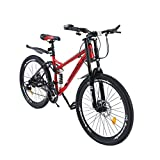 Full Suspension Mountain Bike for Women and Men, 26 inch Mountain Bicycle with Dual Disc Brakes...