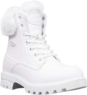 Lugz Women's Empire Hi Fur Classic 6-inch Memory Foam Chukka Fashion Boot, White, 9.5, M