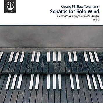 Telemann: Sonatas for Solo Wind, 440Hz, Vol. 2 (Cembalo Accompaniments)