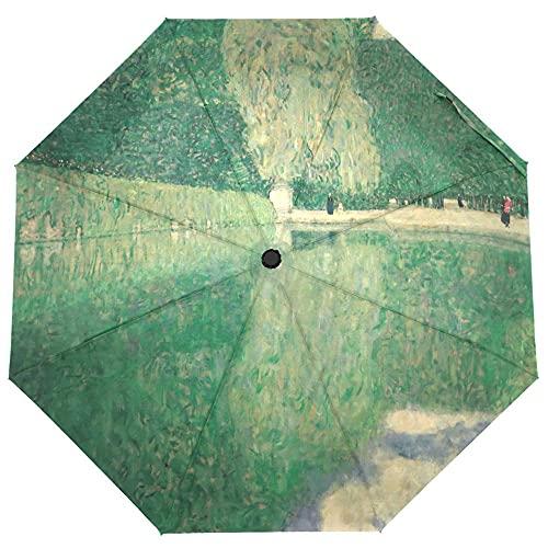BGHYU Pintura al óleo Parasol Parasol Rain Protección Solar Mujer Paraguas automática Tres Plegables Paraguas portátil al Aire Libre (Color : Item 10)