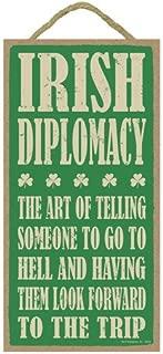 irish diplomacy plaque