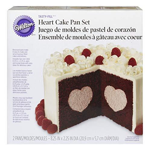Wilton Heart Tasty-Fill Cake Pan Set Backform, Stahl, Silber, 2-Einheiten