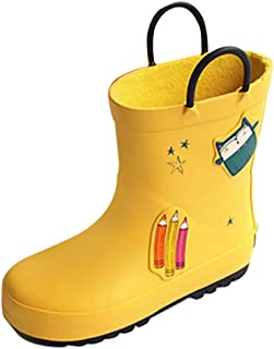 Catata Boys Girls Kids Unisex Rain Boots Soft Cute Ankle Booties