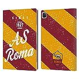 Head Case Designs Officiel AS Roma Rayures Crête Coque en Cuir à Portefeuille Compatible avec...