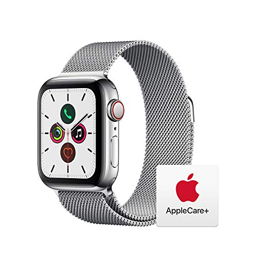 Apple Watch Series 5 (GPS + Cellular, 40mm) - ​ Stainless Steel Case with ​Milanese Loop with AppleCare+ Bundle