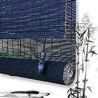 竹ローラーWEIMEI 黒間仕切り 保護プライバシー、 幅×高さ カスタムメイド (Color : A, Size : 130cmX160cm)