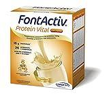 FONTACTIV Protein Vital Complemento Nutricional Para Adultos, Hiperproteico Con Hmb Y Alto Contenido En Vitaminas Y Minerales, 4 Sobres, Vainilla