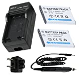Battery (2-Pack) and Charger for Olympus SZ-14, SZ-15, SZ-16 iHS Digital Camera