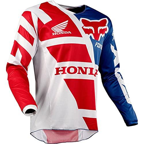 SHUOJIA Camisetas de Ciclismo para Hombre, Camiseta de Manga Larga para Motocross, Bicicleta, MTB, Ropa Deportiva al Aire Libre (A-2,3XL)