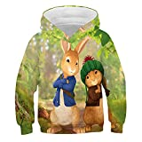WOEMANE Sudadera con capucha para niños y niñas, impresión digital 3D, serie de dibujos animados, A12, 100 cm