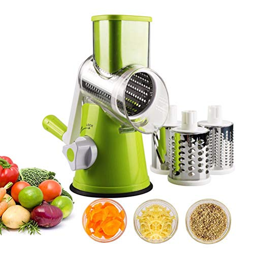 Beito 1 Unidades Manual Rotary Cheese Grater Vegetal Mandoline Slicer Fruit...
