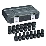 GEARWRENCH 15 Pc. 3/8' Drive 6 Pt. Universal Impact Socket Set, Metric - 84918N
