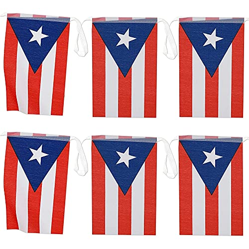 Juvale Puerto Rican Flag Banners (100 ft, 80 Flags)