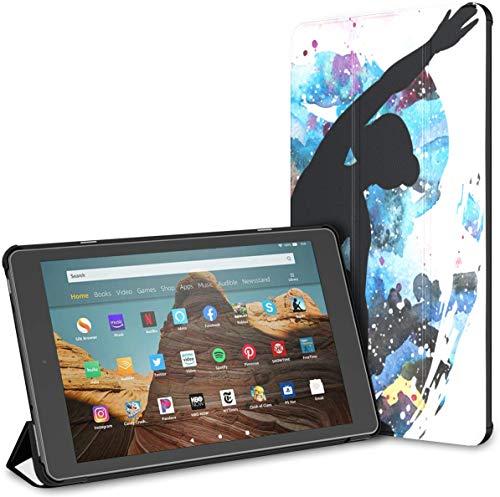 Estuche para Hermosos Movimientos de Yoga para Tableta Fire HD 10 (9.a / 7.a generación, versión 2019/2017) Estuche para Tableta para niñas Estuche Protector para Kindle Auto Wake/Sleep para Tablet