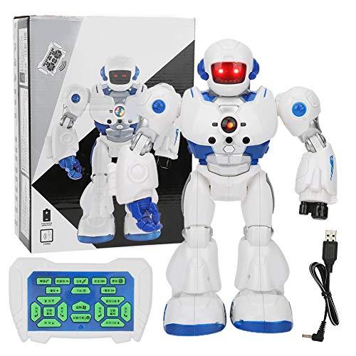 Zerodis RC Robot Toy, intelligentes programmierbares ferngesteuertes Roboterspielzeug mit Licht-Soundeffekt Intelligenter elektrischer Roboter für 3-12 Jahre alte Jungen Mädchen Geburtstag