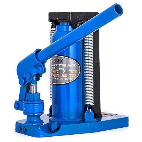 Mophorn Hydraulikzylinderheber 5T hydraulischer Wagenheber 26 * 24 * 17cm einfachwirkende Hydraulikzylinder Machinery Toe Jack (5T)