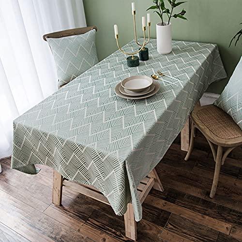 TINGTING Mantel de Borla Simple y Moderno Tela de Textiles para el hogar Arte algodón Lino gaizhuo Mantel de Mesa de Centro Rectangular para el hogar Cuadrado Negro y Gris(Size:100 * 135)